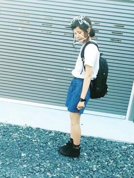 CHiiiさんの「60タイプライター 二枚刺繍衿ブラウス(I am I in fact...)」を使ったコーディネート