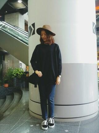 MILKFED. AT HEAVEN27 名古屋|伊藤有希さんの「BIG LOGO DRESS(MILKFED.|ミルクフェド)」を使ったコーディネート