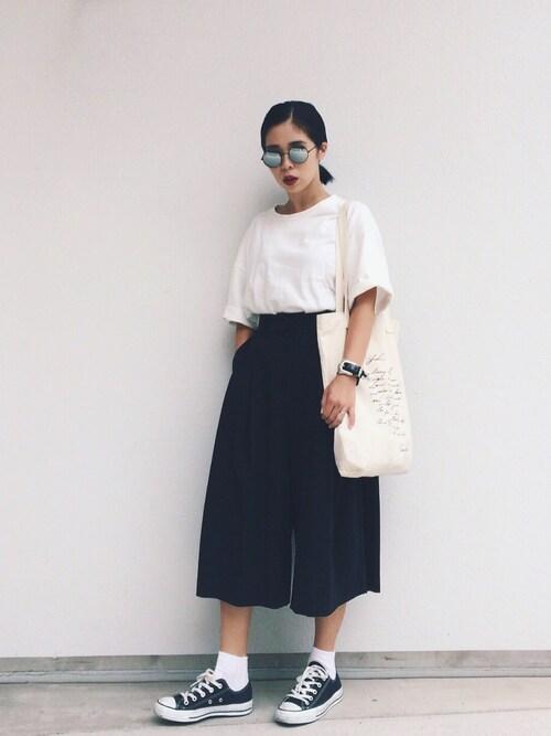 yukikoさんの「TR culotte pants(BLACK BY MOUSSY)」を使ったコーディネート