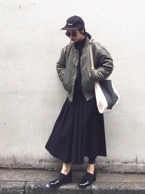 yukikoさんの「LINEN CAP(MOUSSY)」を使ったコーディネート