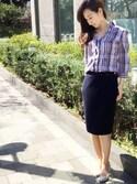 ayaさんの「【セットアップ対応】ベネシャンジャージタイトスカート(NARACAMICIE|ナラカミーチェ)」を使ったコーディネート