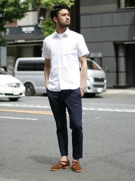EDIFICE TOKYO �a�J�X�bEDIFICE TOKYO�X�X�^�b�t6����̃V���c/�u���E�X�u��MONTI �i�����e�B�jC/LI OX �Z�~���C�h�����V���c�iEDIFICE�b�G�f�B�t�B�X�j�v���g�����R�[�f�B�l�[�g