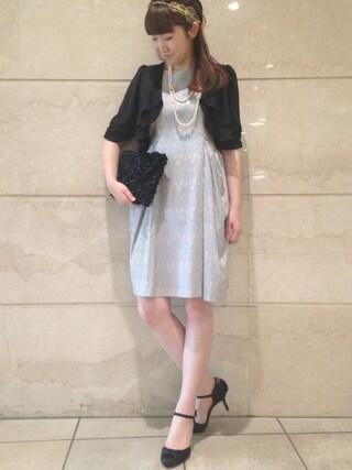 JINES|Jines Officialさんの「■アラベスク ジャガードドレス■結婚式・式典・ワンピース・ドレス(Jines|ジネス)」を使ったコーディネート