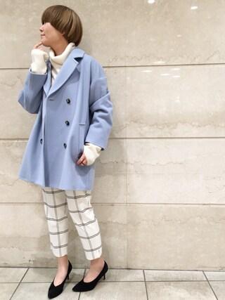 JINES|Jines Officialさんの「ELIZA LUX BIG チェスター コート(Jines|ジネス)」を使ったコーディネート