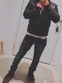 「Nudie Jeans Johnny Leather Jacket(Nudie Jeans)」 using this え looks
