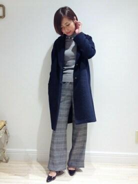 EDIT.FOR LULU 新宿店|MARIKAさんの「◇ロービングシャギー チェスターコート(EDIT. FOR LULU)」を使ったコーディネート