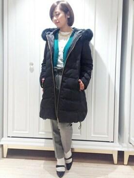 EDIT.FOR LULU 新宿店|MARIKAさんの「◆カシミヤ天竺 Vネックカーディガン(EDIT. FOR LULU)」を使ったコーディネート