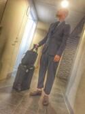jun oyaさんの「SALSA(マット仕上げ) / 83352 CABIN TROLLEY IATA 33L【機内持込OK】(RIMOWA|リモワ)」を使ったコーディネート
