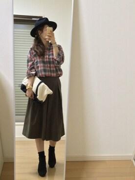 kaorin☆さんの「WEGO/ツバ広フェルトハット(WEGO)」を使ったコーディネート