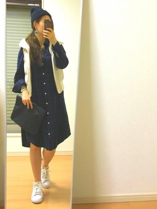kaorin☆さんの「WEGO/ネルシャツワンピース(WEGO)」を使ったコーディネート
