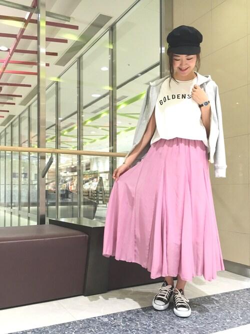 DouDou_serikaさんの「プリントTシャツ(DouDou)」を使ったコーディネート