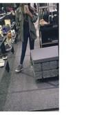 「Topshop Moto 'Joni' Crop Skinny Jeans (Blue)(Topshop)」 using this 吴大冷 looks