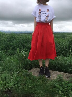 emi さんの「bonjour records × EDIT.FOR LULU TEE(bonjour records)」を使ったコーディネート