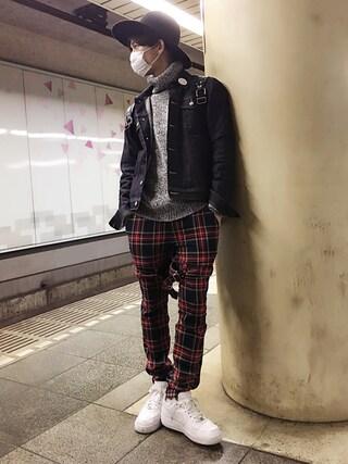 こんどうようぢさんの「BONDAGE PANTS(MILKBOY|ミルクボーイ)」を使ったコーディネート