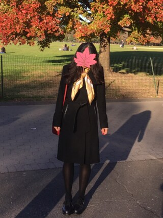 「French Connection Leather Trim Long Coat with Removable Faux Fur Collar(French Connection)」 using this Amy looks