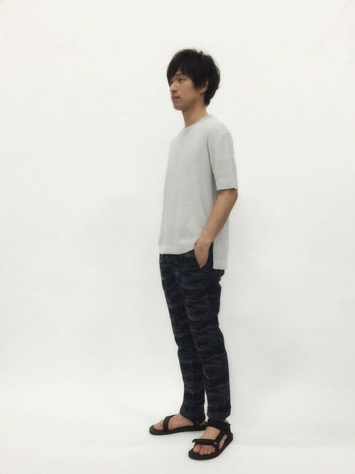 ZOZOTOWN | NandeyaNenさんのニット/セーター「STUDIOUS STUDIOUS カノコリネンニット MADE IN JAPAN」を使ったコーディネート