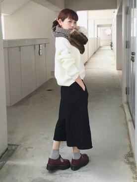 浅倉 まいさんの「■KIKOフェイクファーコンビスヌード/KIKO FLFUR CMB SND(Another Edition|ヴィヴィアンウエストウッド)」を使ったコーディネート