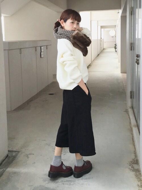 浅倉 まいさんの「■KIKOフェイクファーコンビスヌード/KIKO FLFUR CMB SND(Another Edition)」を使ったコーディネート
