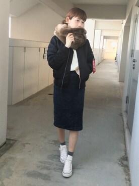 浅倉 まいさんの「【瀬戸晴加さん着用】せとはる×UNRELISHコラボ アゼドロップニット(UNRELISH|アンレリッシュ)」を使ったコーディネート