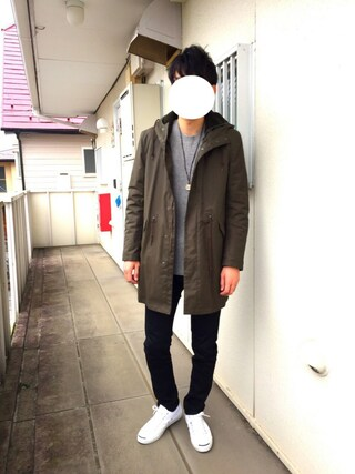 Hirokichiさんの「【ライナーつきで着回し抜群】モッズコート/548283(GLOBAL WORK|グローバルワーク)」を使ったコーディネート