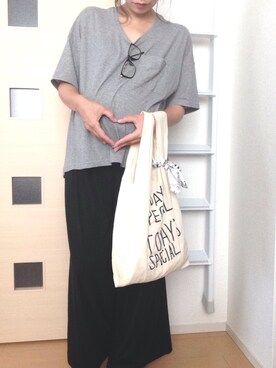 Rickyさんの「限定マルシェバッグ ブラック / Marche Bag(TODAY'S SPECIAL|トゥデイズスペシャル)」を使ったコーディネート