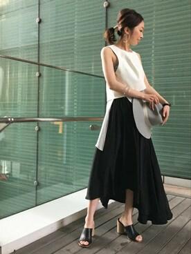 Noble 有楽町店|natsukiさんの「≪予約≫ヴィンテージデシンギャザースカート◆(Spick and Span Noble)」を使ったコーディネート