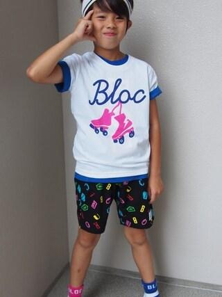 BLOC/Betty公式通販 What's Up KIDZオンラインストア|bloc_betty_OFFICIALさんの「アルファベットハーフパンツ(ブラック)(BLOC|ブロック)」を使ったコーディネート