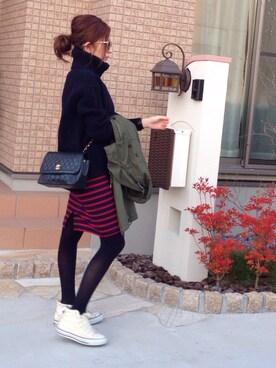 mayumiさんの「バックサテンモッズコート #(JOURNAL STANDARD|ジャーナルスタンダード)」を使ったコーディネート