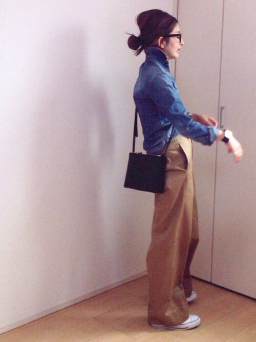 mayumiさんの「ツイカ セルヴィッチワイドチノパンツ◇(Deuxieme Classe)」を使ったコーディネート