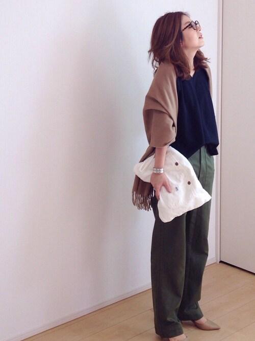 mayumiさんの「STUDIOUS VネックコンフォートTEE(STUDIOUS)」を使ったコーディネート