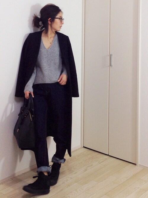 """mayumiさんの「TODAYFUL(トゥディフル)  """"Melton Long Coat""""メルトンロングーコート(TODAYFUL)」を使ったコーディネート"""