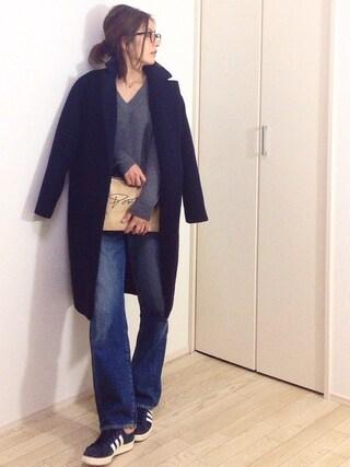 mayumiさんの「【CLASSY. 12月号掲載】ビーバーチェスターコート(TONAL トーナル)」を使ったコーディネート