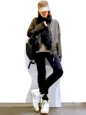 「Rick Owens Blistered-Suede Bomber Jacket(Rick Owens)」 using this ★DSKDM★ looks