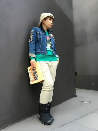 「USED加工Sデニム ロッカーズGジャン(HYSTERIC GLAMOUR)」 using this HYSTERIC GLAMOUR福岡店|happachin looks