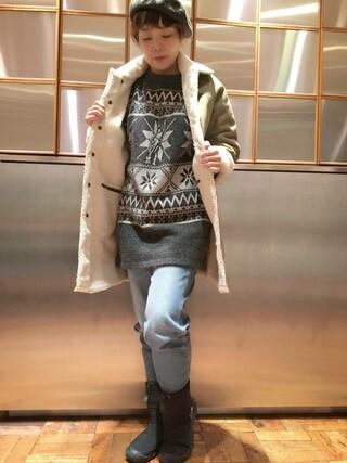 「リバーシブルボアCO(HYSTERIC GLAMOUR)」 using this HYSTERIC GLAMOUR福岡店|happachin looks