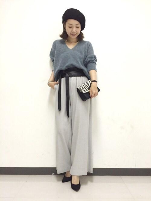 DouDou_yumikoさんの「≪2016AW≫【CARRANO】スエード6.5cmヒールパンプス(CARRANO)」を使ったコーディネート