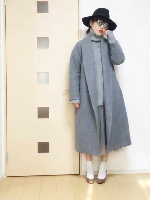 u_yukiさんの「《 ViVi 12月号掲載商品 》【ELDER】ウールガウンロングCO(EMODA)」を使ったコーディネート