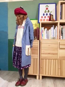 月子さんの「シェットランド5GG FAVORITEプルオーバー(My Fav. CHILD WOMAN)」を使ったコーディネート