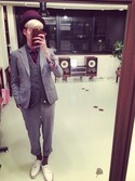 「Thom Browne Grey Wool Suit(Thom Browne)」 using this 安部 健太 looks