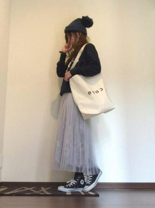 satopoo さんの「★3WAYチュールプリーツスカート(OLIVEdesOLIVE)」を使ったコーディネート