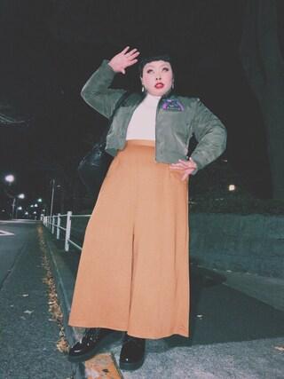 渡辺直美さんの「レースアップシューズ(PUNYUS|PUNYUS)」を使ったコーディネート