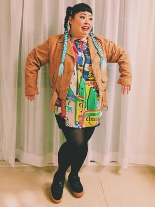 ミニワンピを着ている渡辺直美