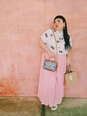 「Dolce & Gabbana Rosaria Carretto-print leather shoulder bag(Dolce & Gabbana)」 using this 渡辺直美 looks