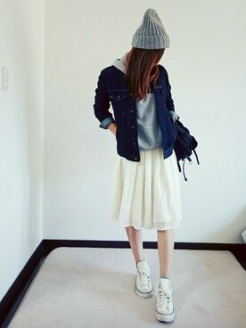 Saë..♥さんの「Prada Vela Backpack, Black (Nero)(Prada)」を使ったコーディネート