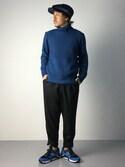 B-chanさんの「Saucony サッカニー GRID 9000 S70196-1 BLUE/BLACK(Saucony サッカニー)」を使ったコーディネート