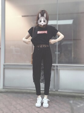 박정민さんの(adidas アディダス)を使ったコーディネート