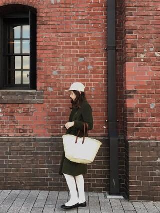 AMOさんの「靴下屋/ コットン3×1リブタイツ(靴下屋|クツシタヤ)」を使ったコーディネート