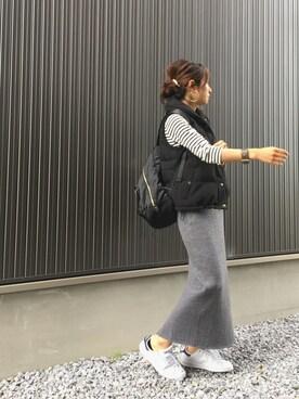 Haru☆さんの「ショールカラーダウンベスト◆(FRAMeWORK)」を使ったコーディネート