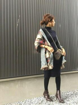 Spick & Span|Haru☆さんのブーツ「【MARIAN】サイドゴアショートブーツ◆(Spick & Span|スピック&スパン)」を使ったコーディネート