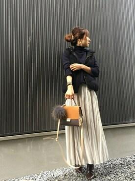 Spick & Span|Haru☆さんのスカート「ウェーブプリーツスカート◆(Spick & Span|スピック&スパン)」を使ったコーディネート